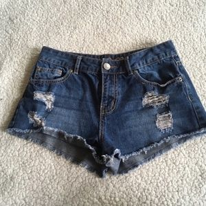 Rue 21 Destroyed High Waisted Jean Shorts